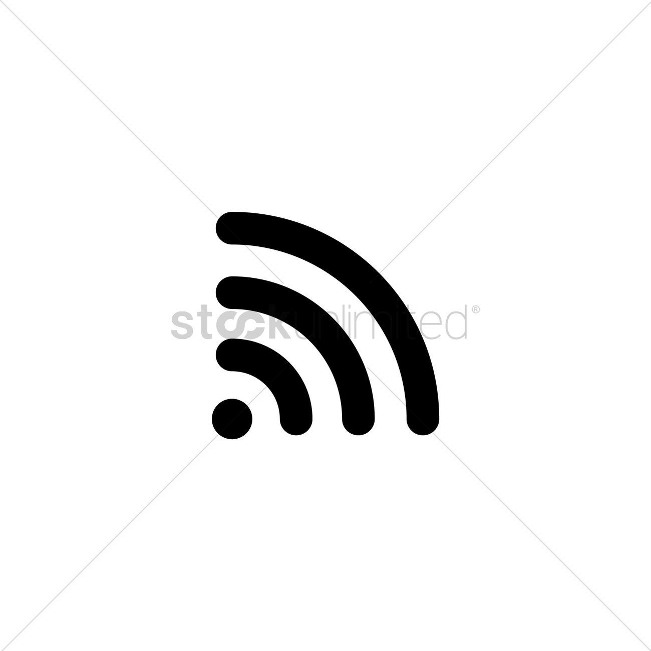 Wifi Icon Vector Image 1953024 Stockunlimited