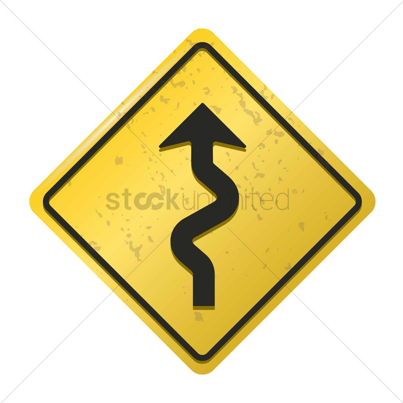 Winding road sign vector image 1572268 stockunlimited winding road sign vector graphic publicscrutiny Images