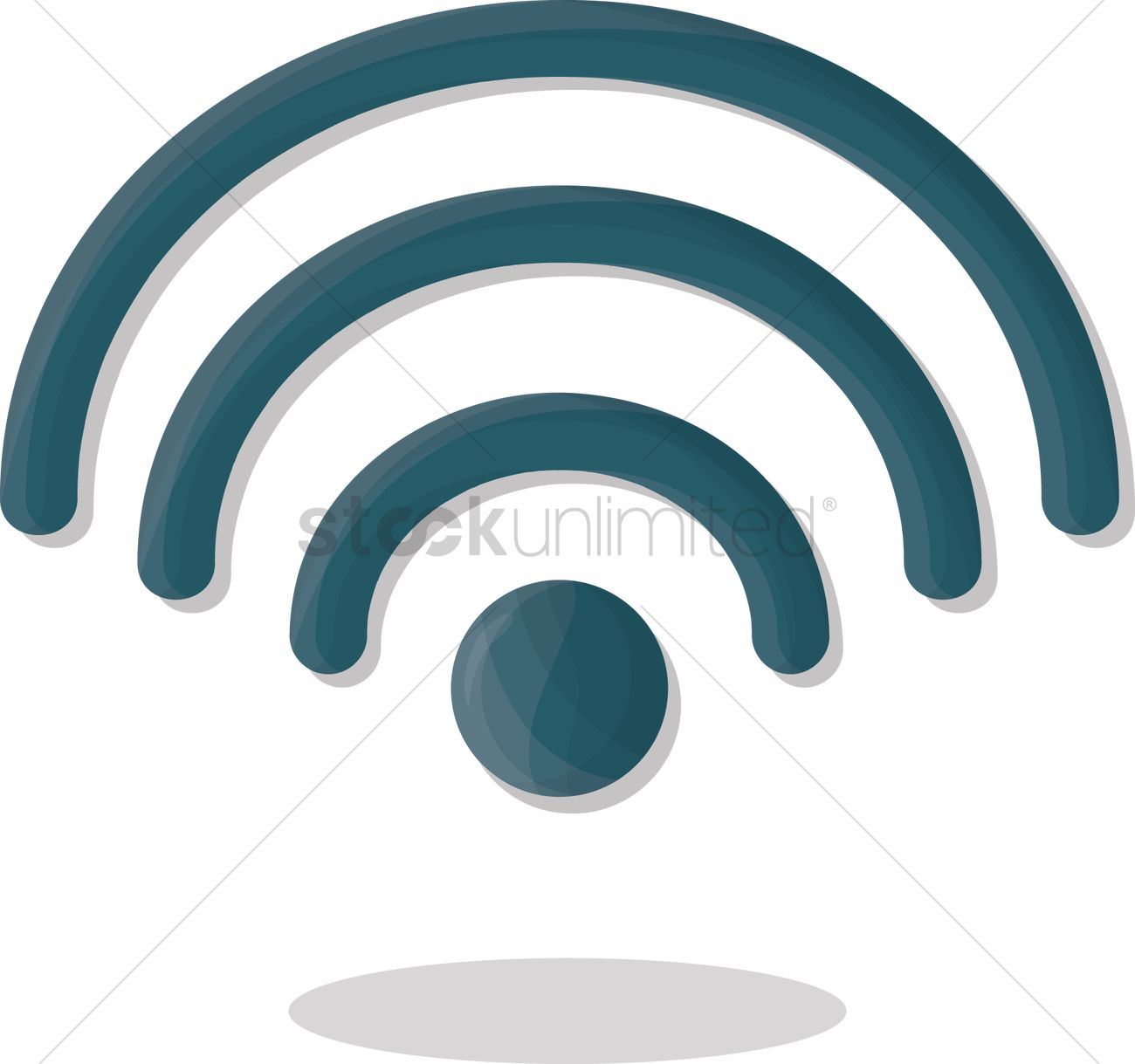 Wireless Network Symbol Vector Image 1252408 Stockunlimited