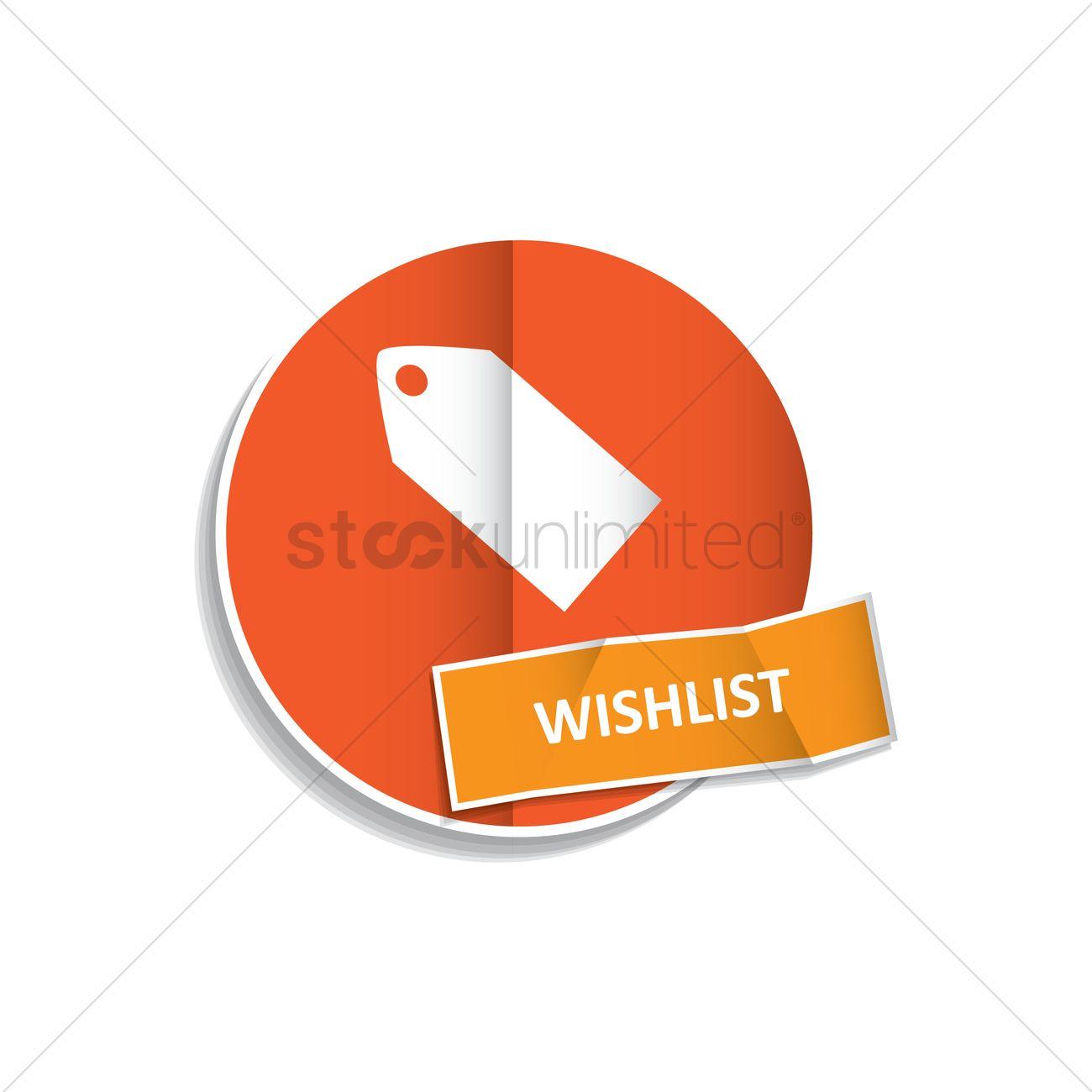 977fff85f4b34 Free Wishlist button Vector Image - 1325768 | StockUnlimited