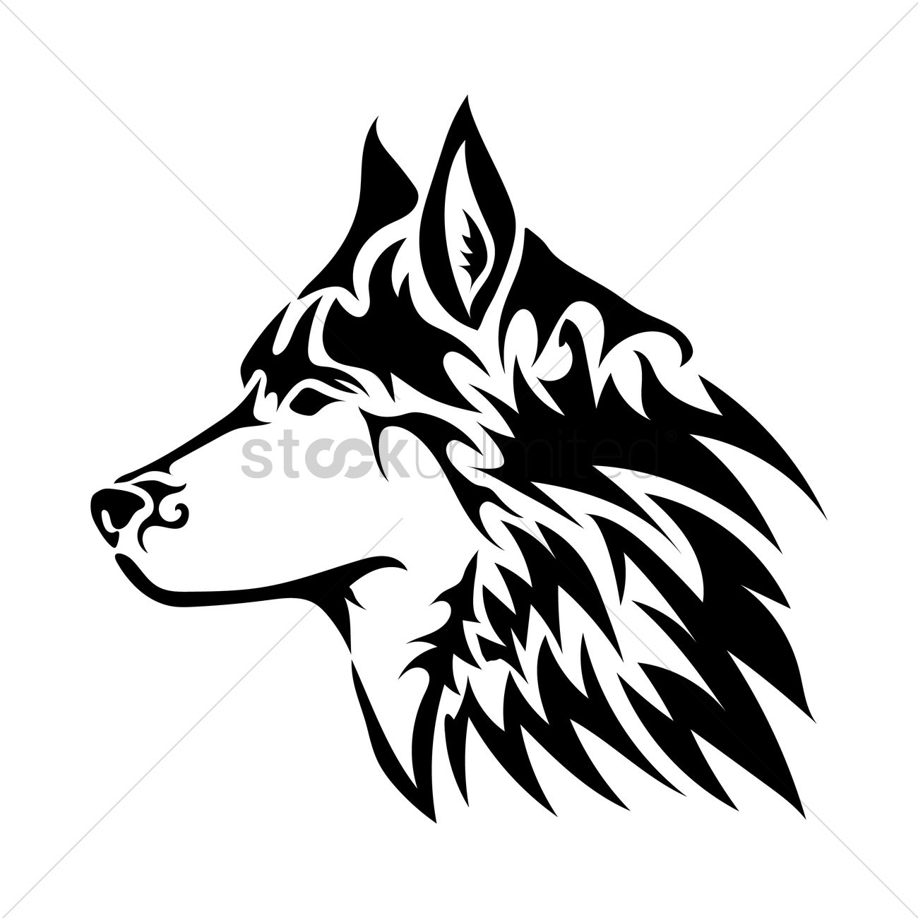 Wolf Tattoo Design Vector Image 1433600 Stockunlimited