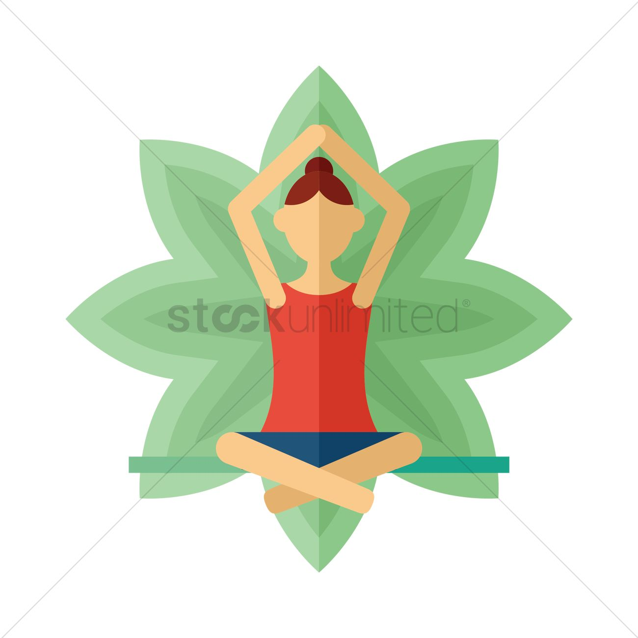 Woman Practicing Yoga In Lotus Pose Vector Image 1478684