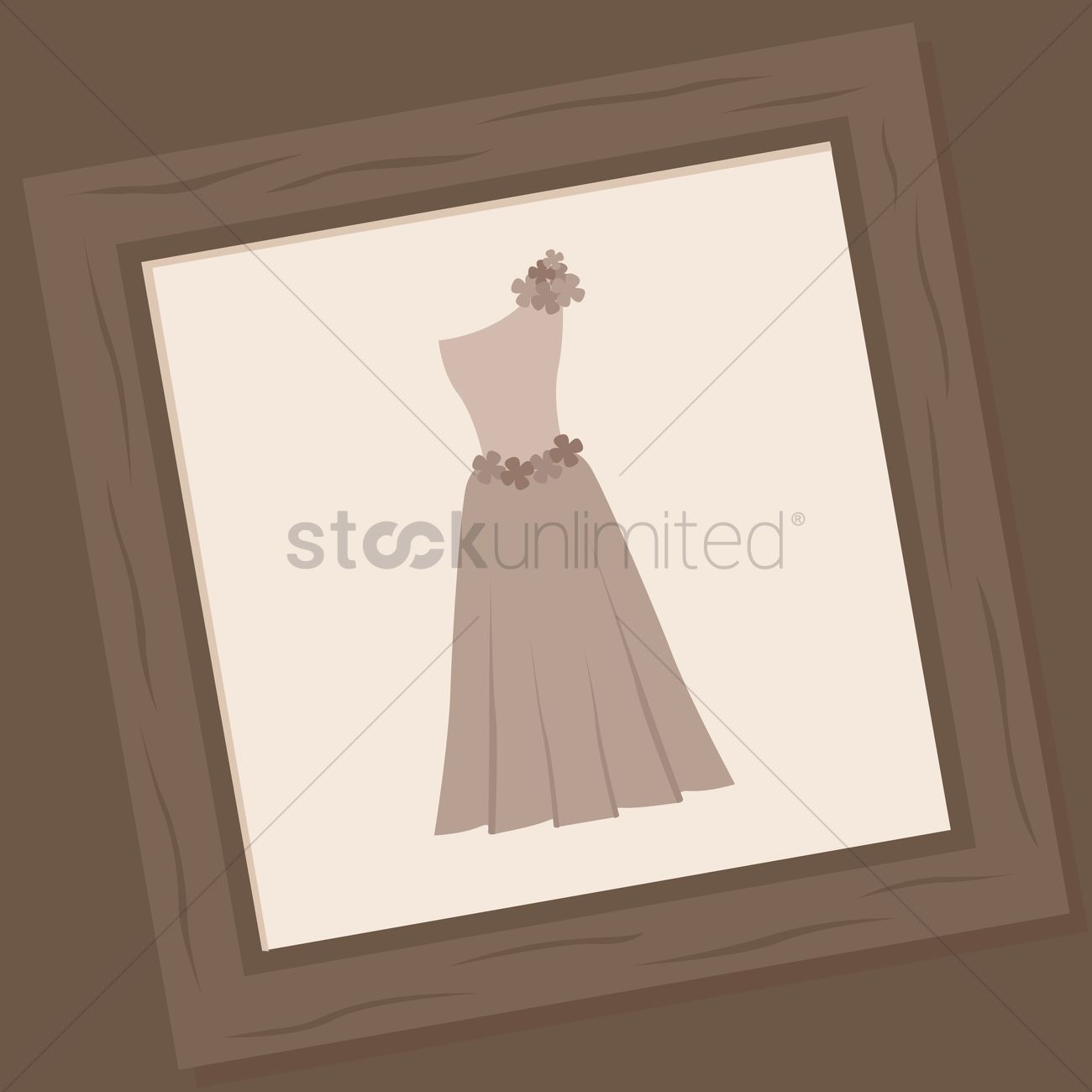 Wooden frame of wedding gown Vector Image - 1372736 | StockUnlimited