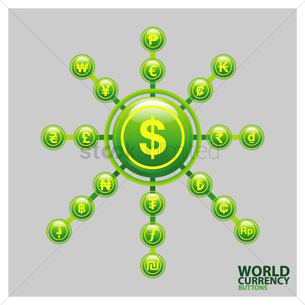 World Currency Symbols Vector Image 1809992 Stockunlimited