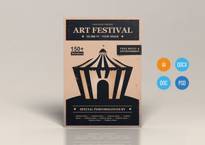 Templates : Art Festival Poster Design