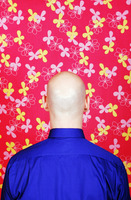 Popular : Back shot of a bald businessman