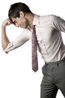 Popular : Businessman flexing his muscle