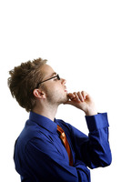 Popular : Businessman thinking