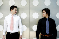 Popular : Businessmen looking at each other