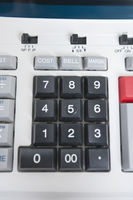 Close-up of calculator pushbuttons