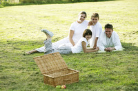 Popular : Family picnicking in the park