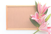 Flowers with cork board design