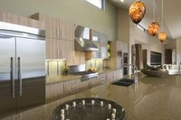 Kitchen worktop unit in palm springs home