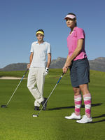 Popular : Man and woman on golf course