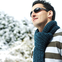 Man with scarf and sunglasses