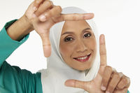 Popular : Woman showing hand gesture