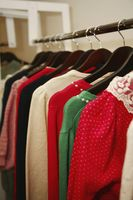 Women s clothes on a rack