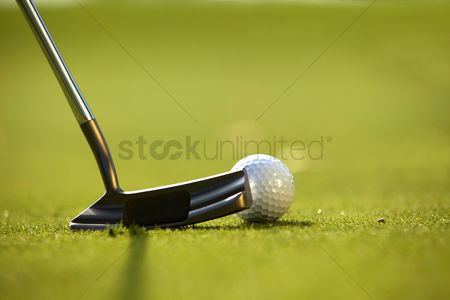 No people : A golf club on a golf course