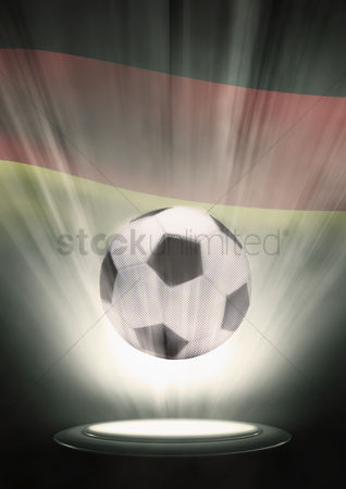 Nationality : A soccer ball with germany flag backdrop