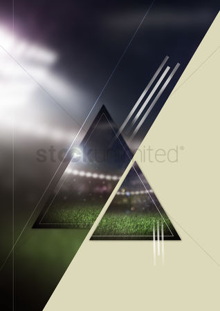 Pitch : Abstract football background concept