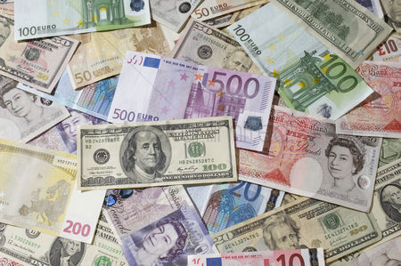 Us : American british and euro paper currency