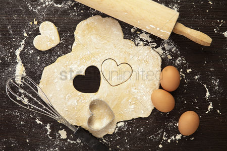 Flat : Baking with love concept
