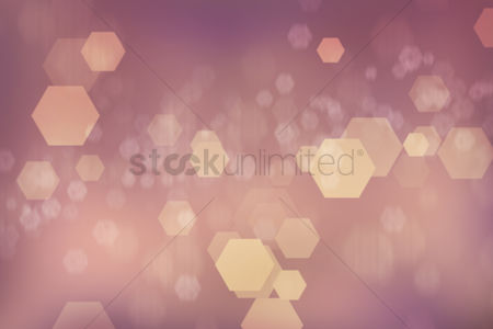 Hexagon : Bokeh background design