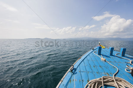 Transportation : Bow of boat on sea koh samui thailand