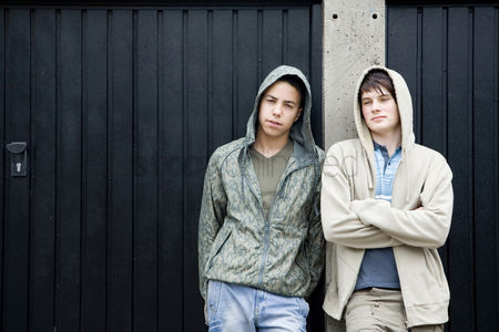 Jacket : Boys posing for the camera