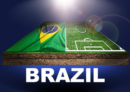 Pitch : Brazil with football field