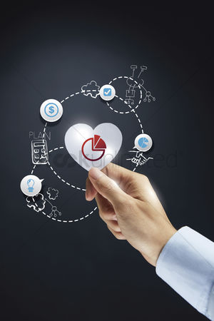 Heart shapes : Business analysis concept