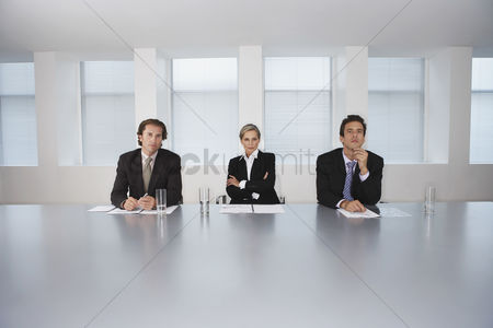 Leadership : Business executives sitting in conference room