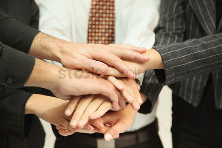 Business suit : Business people in huddle