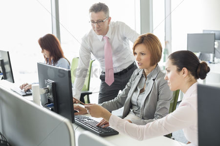 Women : Business people working on computer in office