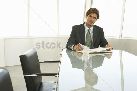 Gaze : Businessman in conference room