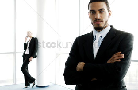 Enjoying : Businessman looking at the camera