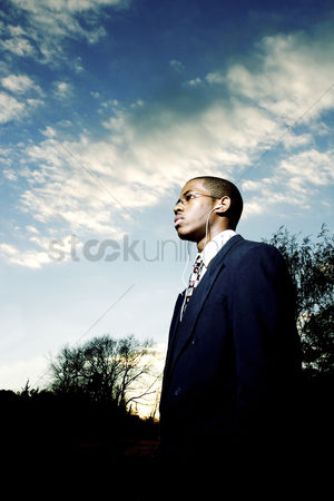 Determined : Businessman posing for the camera