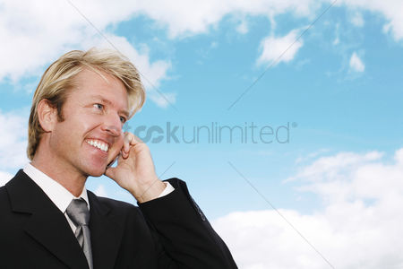 Cellular phone : Businessman talking on the phone
