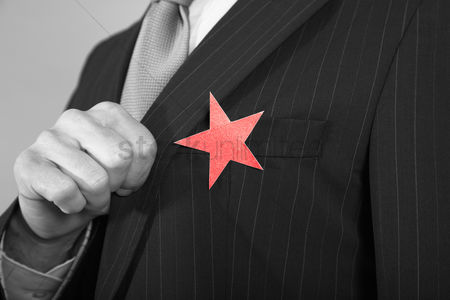 Lively : Businessman with red star on suit