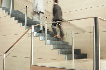 Staircase : Businessmen climbing stairs