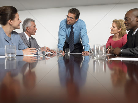 Leadership : Businesspeople in conference meeting