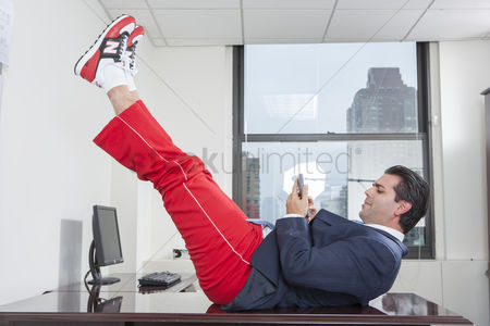Workout : Businessperson exercising in office