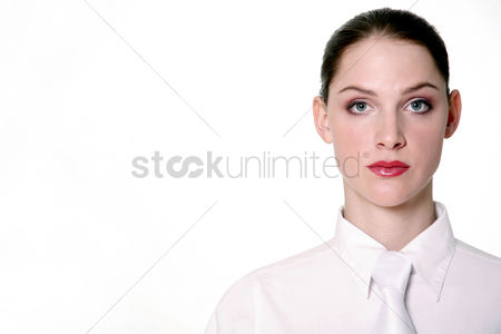 Determined : Businesswoman in classy white
