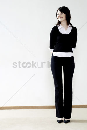 Contemplation : Businesswoman smiling