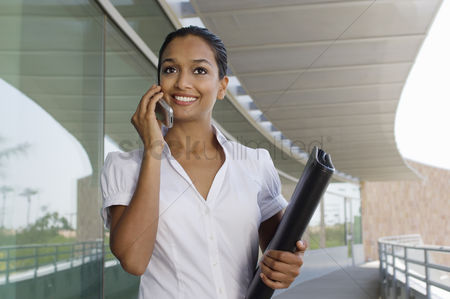 Cellular phone : Businesswoman talking on a cell phone