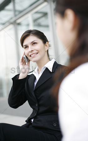 Determined : Businesswoman talking on the hand phone