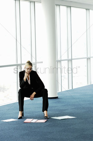 Selection : Businesswoman thinking