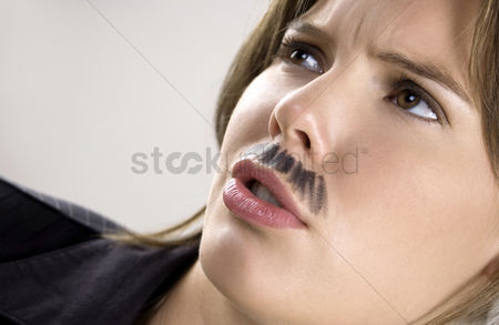 Composed : Businesswoman with moustache
