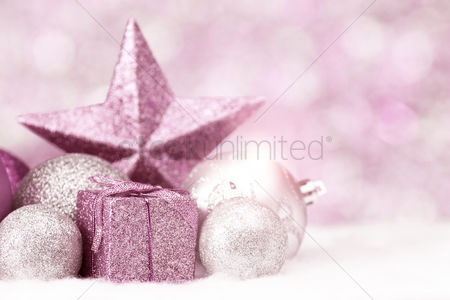 Pink : Christmas theme decoration with copy space