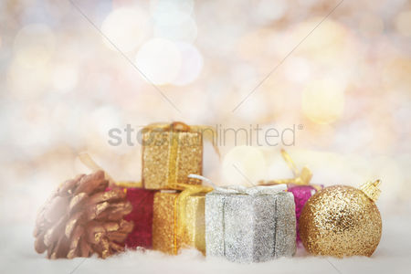 Background : Christmas theme decoration with copy space